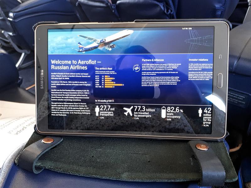 aeroflot tablet business class