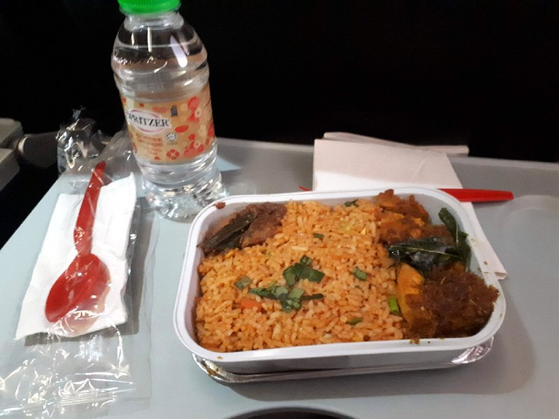 air asia meal food nasi lemak