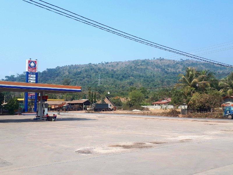 laos gas petrol station bus ticket