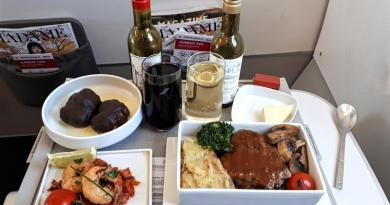 air france business class meal a320 review bucharest paris
