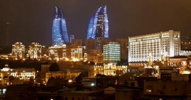 baku flame towers view azerbaijan