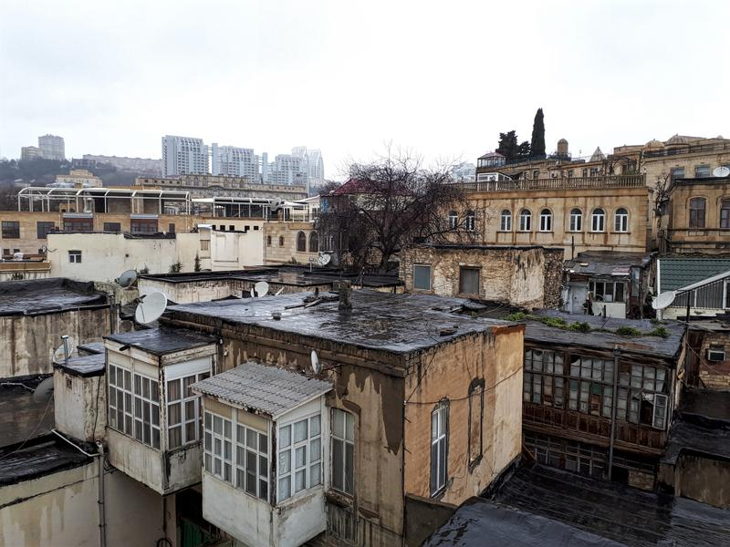 baku old town view rooftop