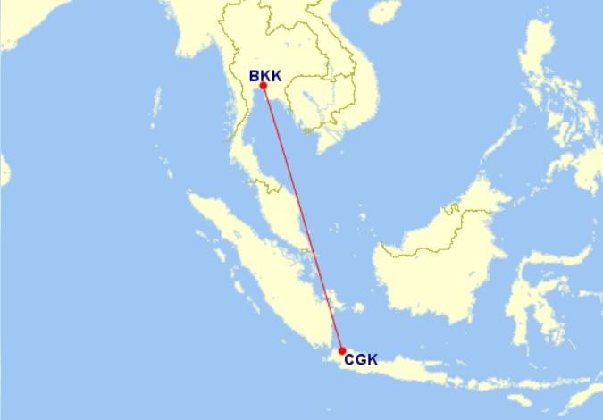 bkk-cgk flight map