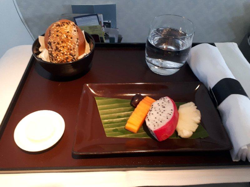 fruit business class garuda meal
