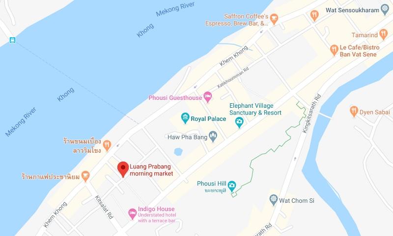 luang prabang morning market map