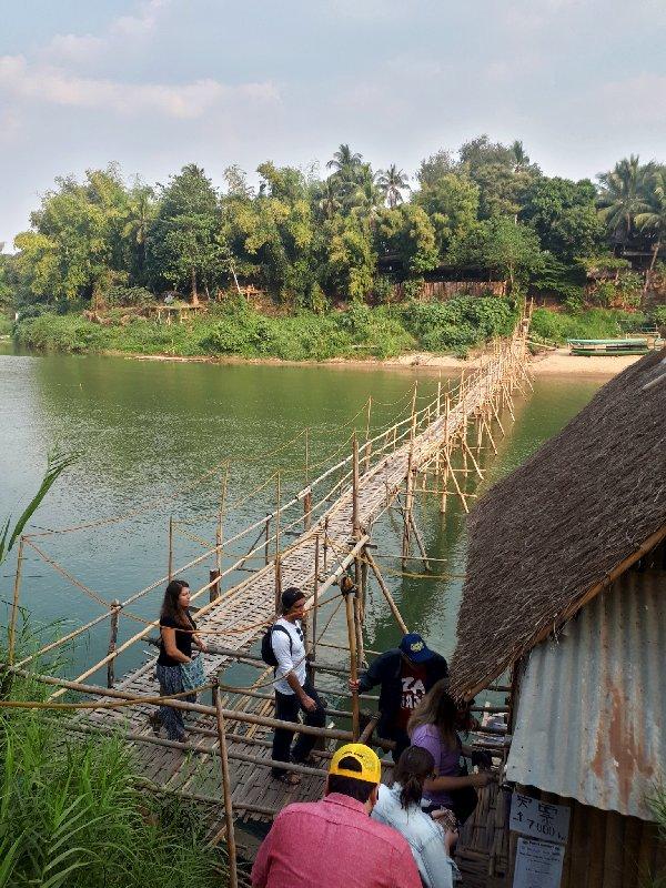 toll bridge nam khan bamboo