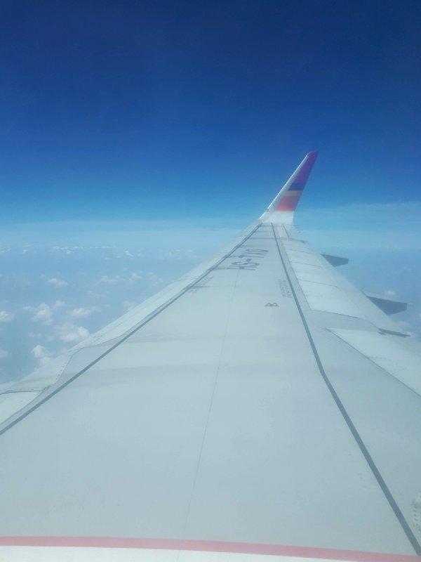 thai smile plane window view