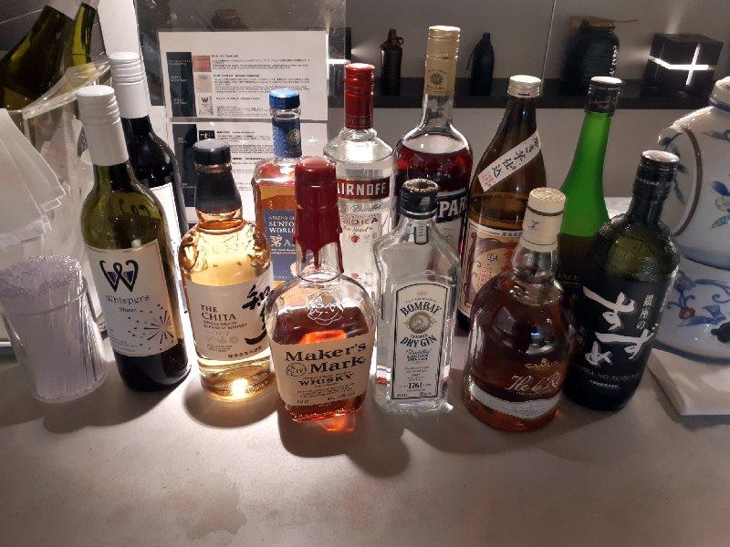 ana lounge booze