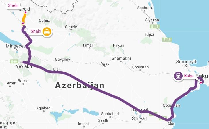 baku sheki route