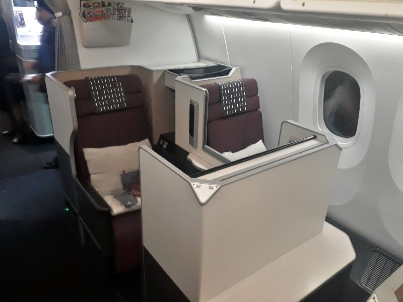 jal japan airlines boeing 787 business class review
