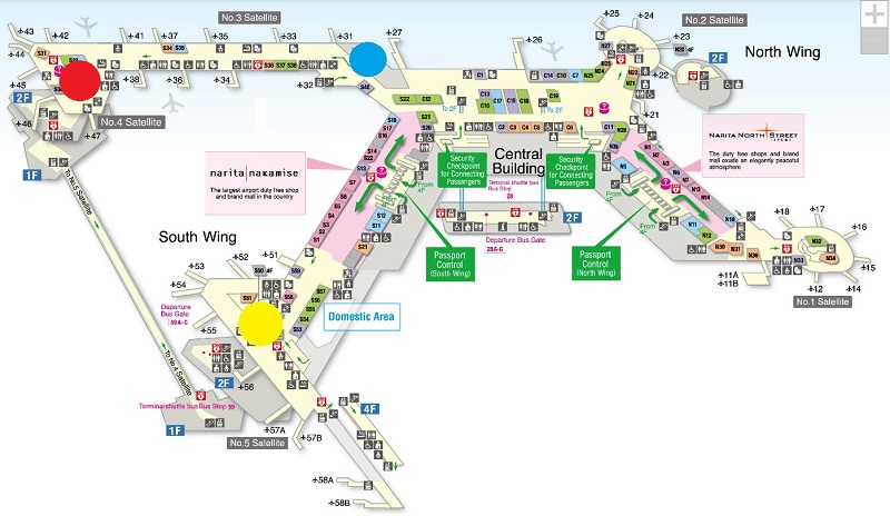 narita airport map star alliance lounge lounges