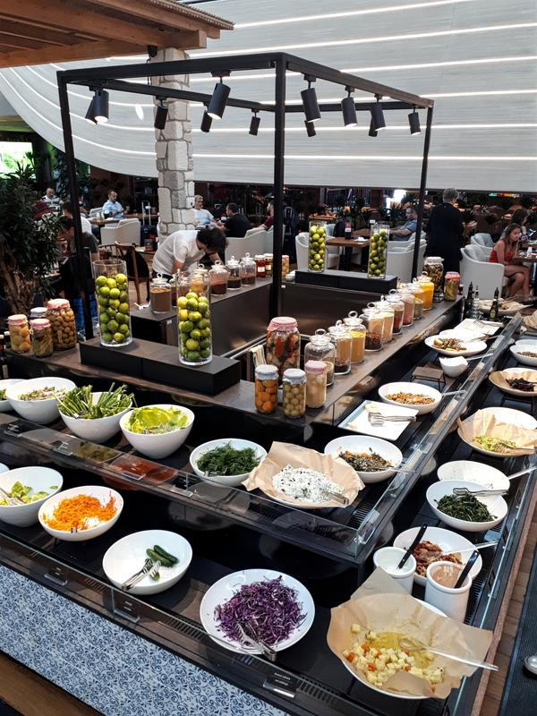 turkish salad bar food lounge