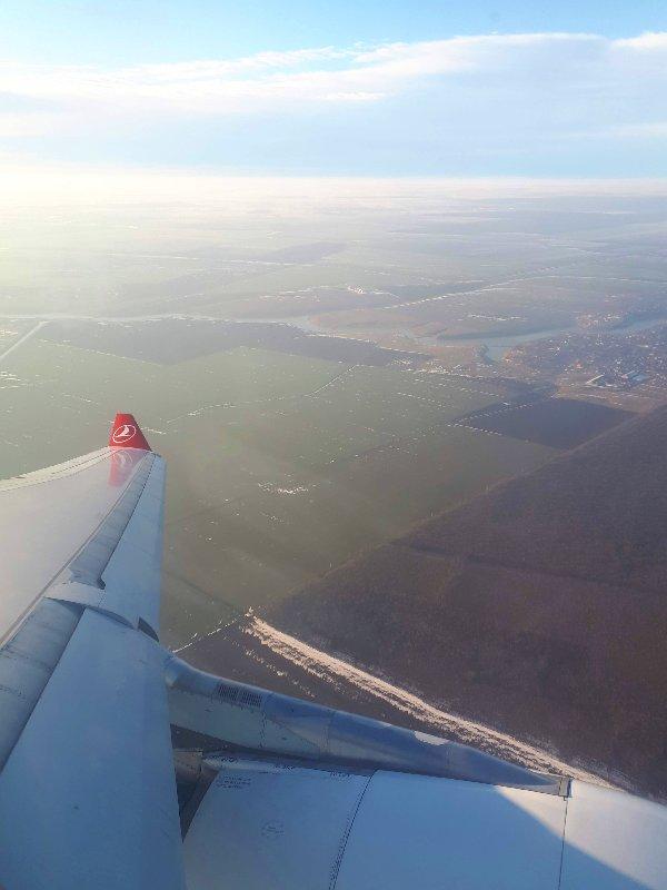 bucharest final approach window view