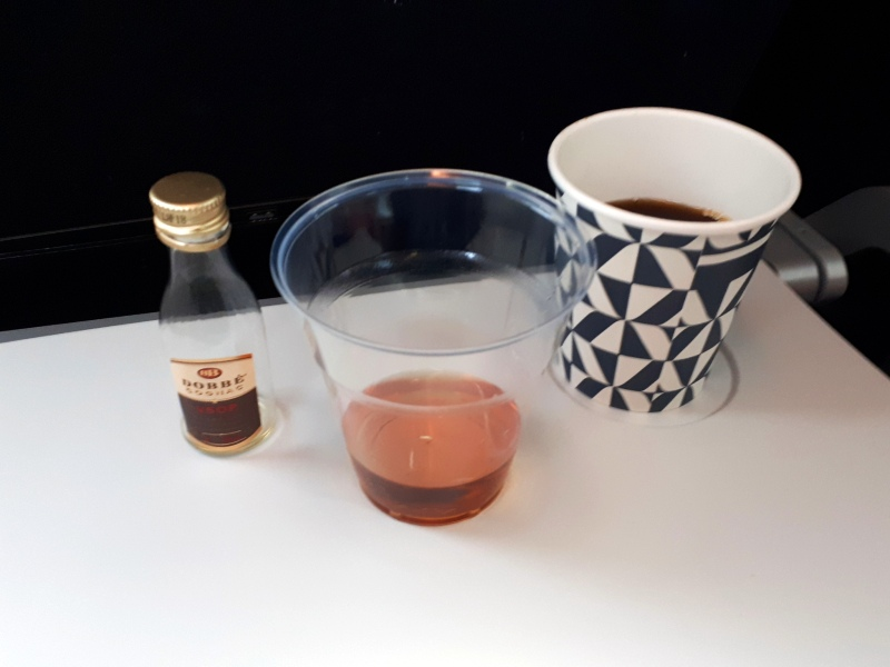 coffee cognac air france economy class review