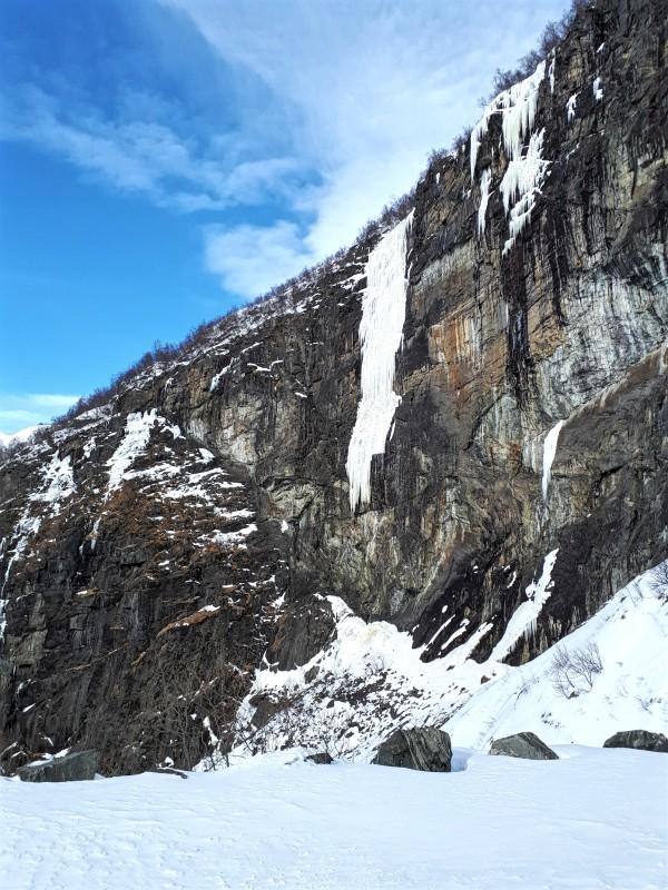 frozen waterfall flamsbana