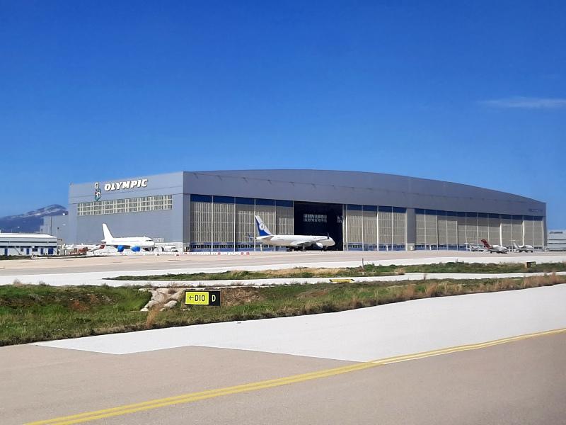 athens airport hangar