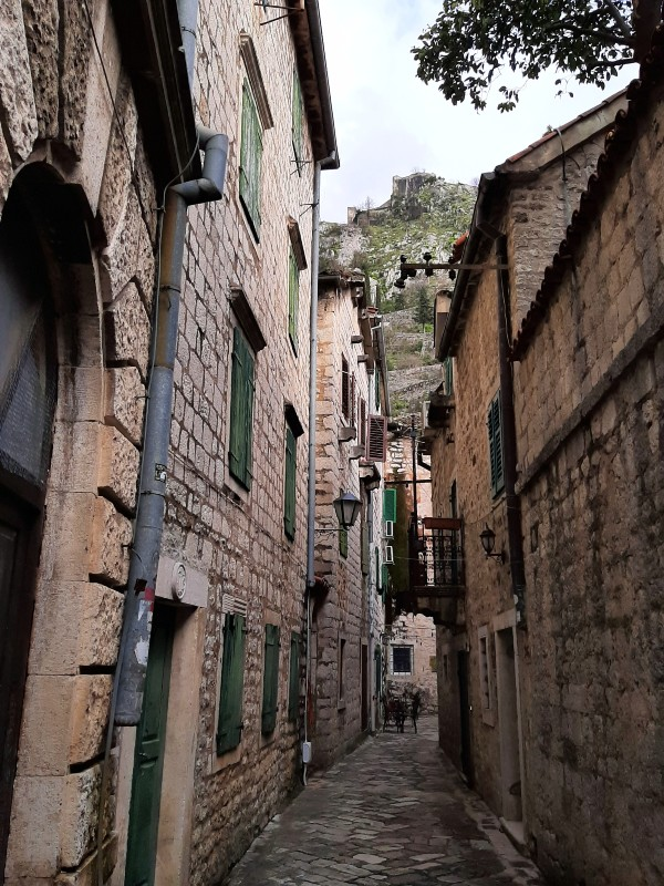 kotor old town street alley