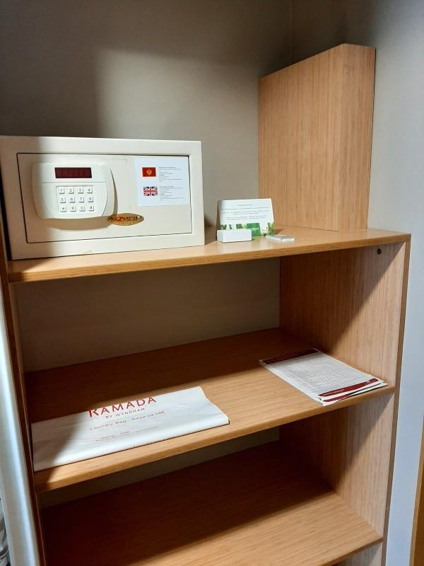 storage space safe hotel