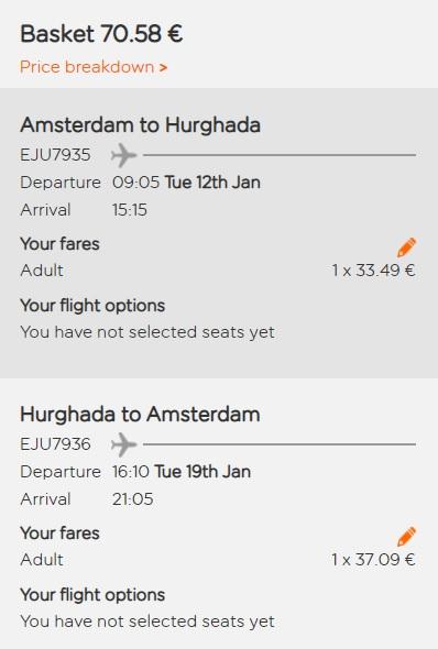 amsterdam hurghada flights egypt