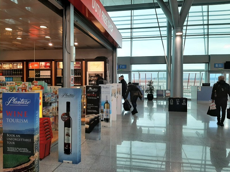 podgorica airport duty free