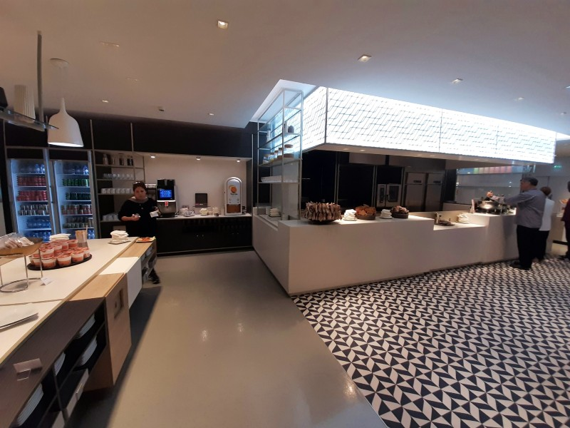 air france lounge buffet kitchen
