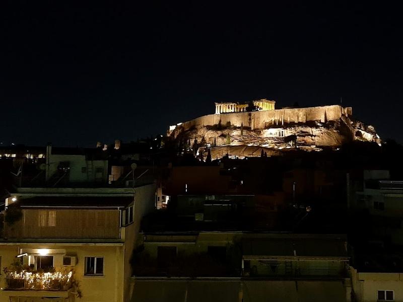 acropolis night athens