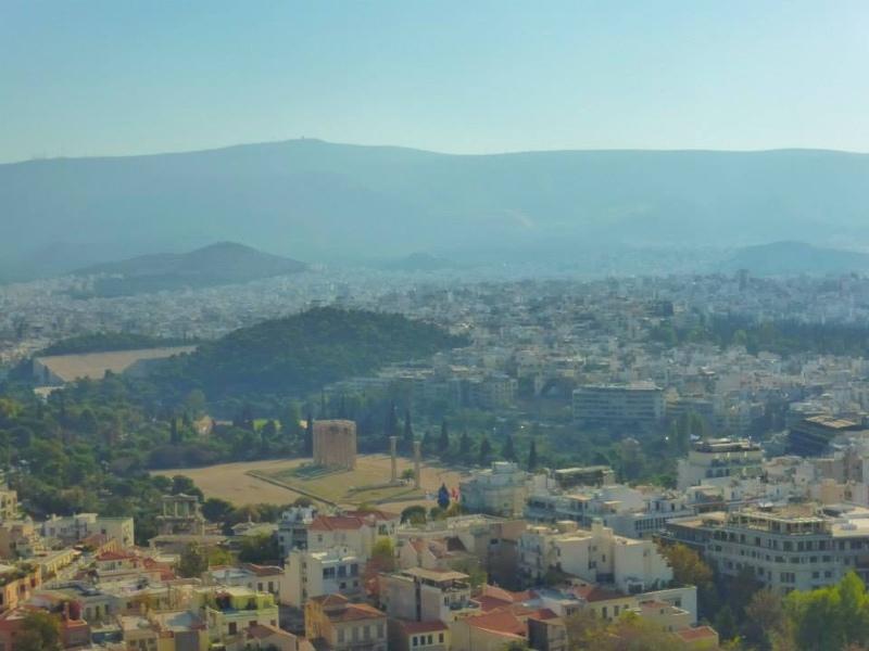 temple zeus acropolis view