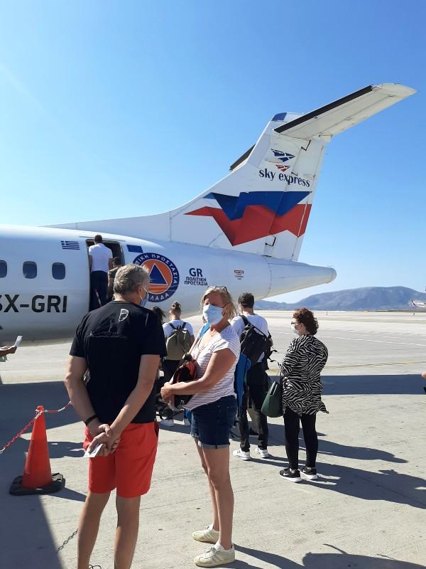 boarding atr 42 sky express