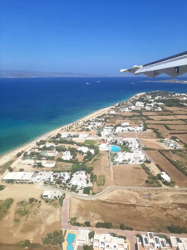 naxos plane view landing