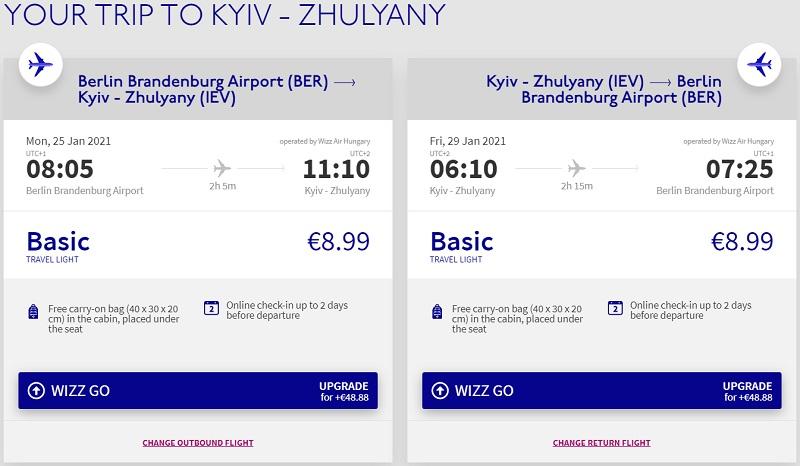 berlin kiev wizz cheap ukraine flight