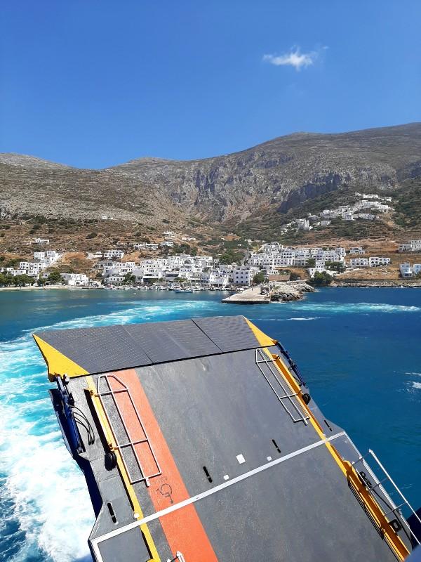 aegiali port amorgos blue star ferrries