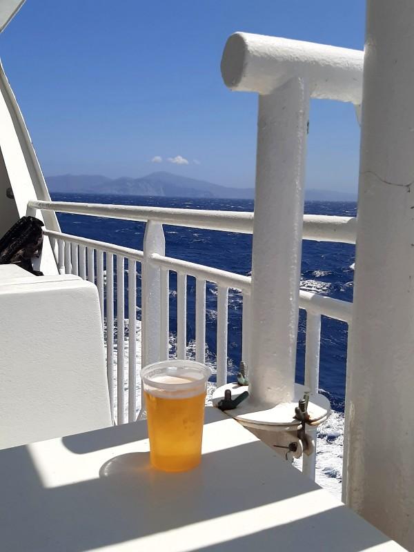 beer ship greece