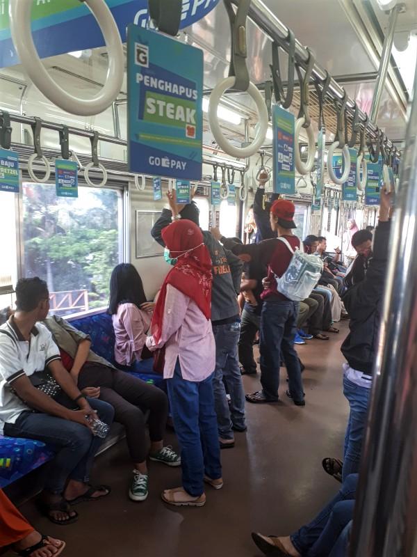 suburban commuter train indonesia