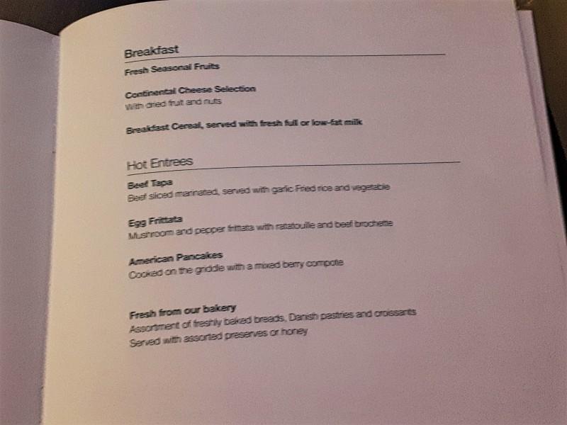 menu riyadh jakarta business class breakfast