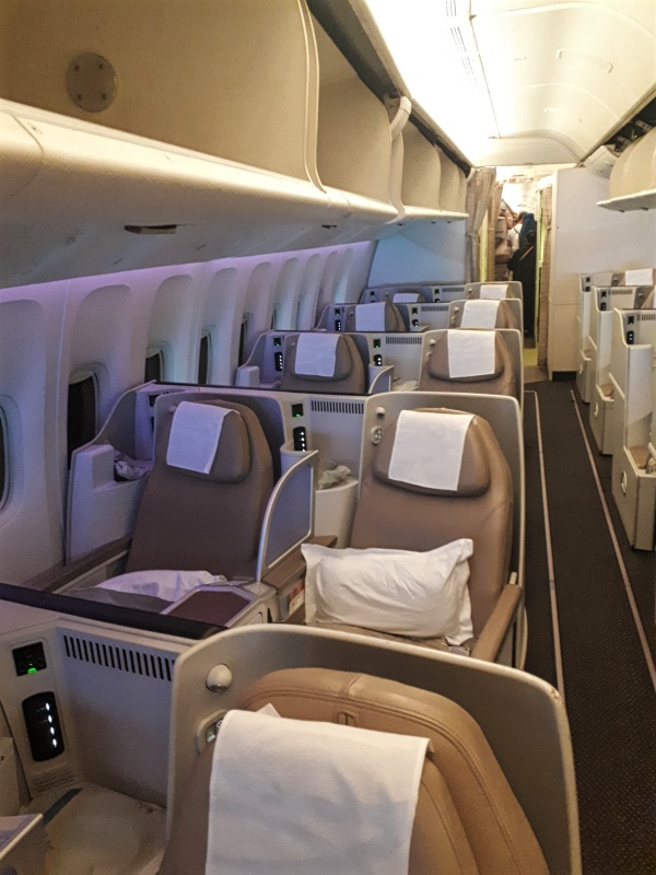saudia business class cabin boeing 777 b777