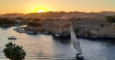 sunset nile egypt aswan
