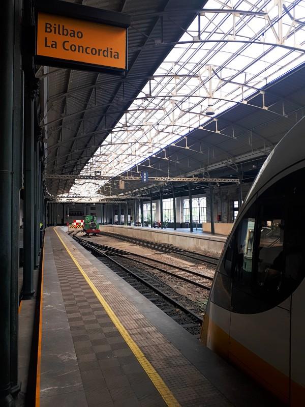 bilbao concordia station feve spain narrow gauge