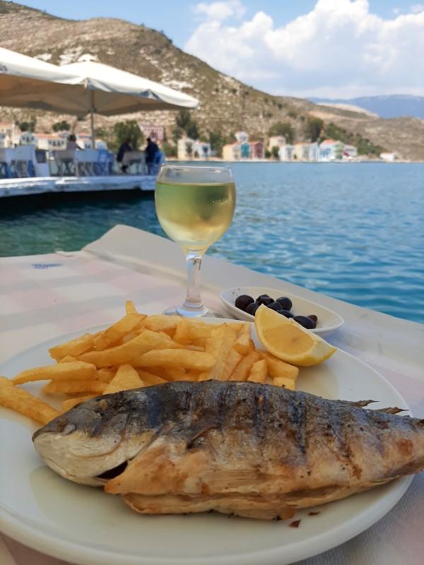 fish kastellorizo food