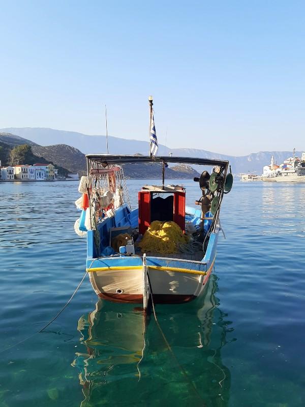 fishing boat greece kastellorizo