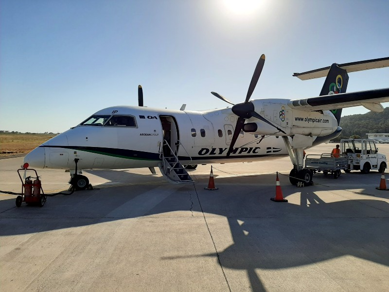 olympic air dash 8-100 rhodes airport