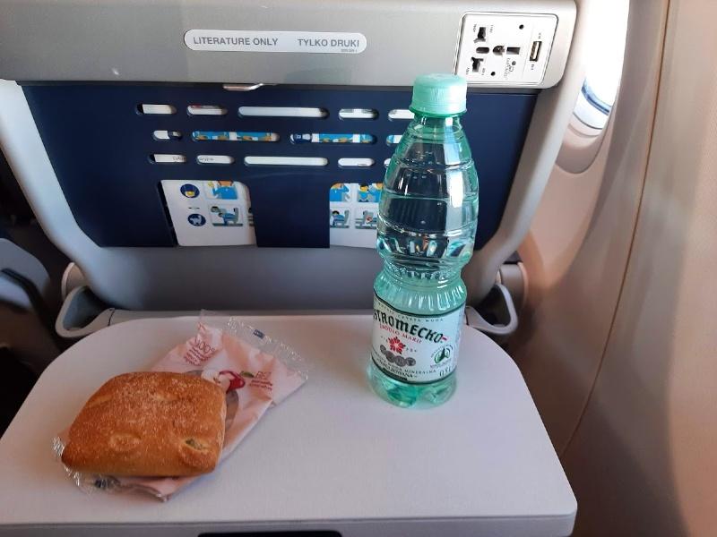 lot in flight snack service airline corona