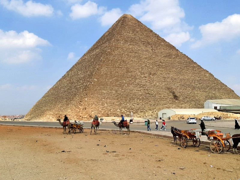 pyramid cheops giza camel egypt trip report