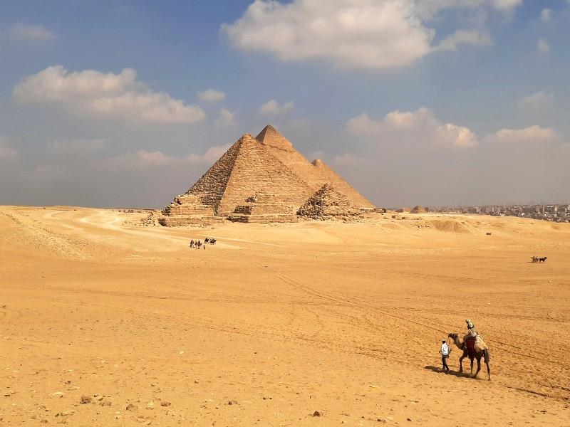 giza pyramids complex egypt trip report