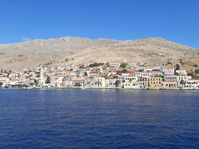 halki chalki town island rhodes rodos