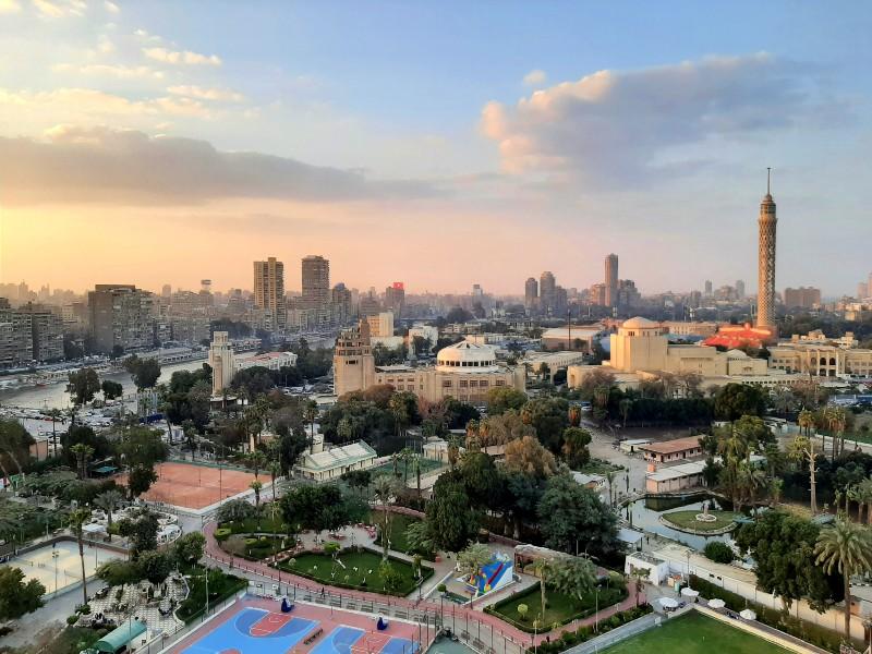 sofitel nile el gezirah sunset view cairo