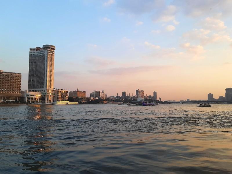 river nile sunset cairo egypt