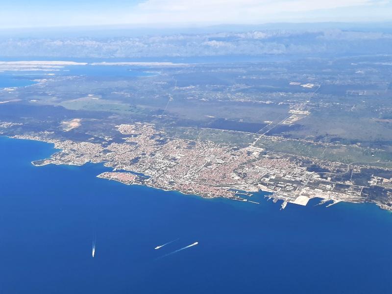 zadar croatia trade air