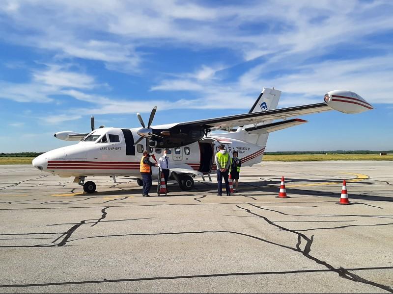 trade air let l-410 turbolet osijek airport croatia