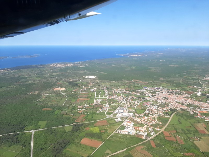 pula airport approach view