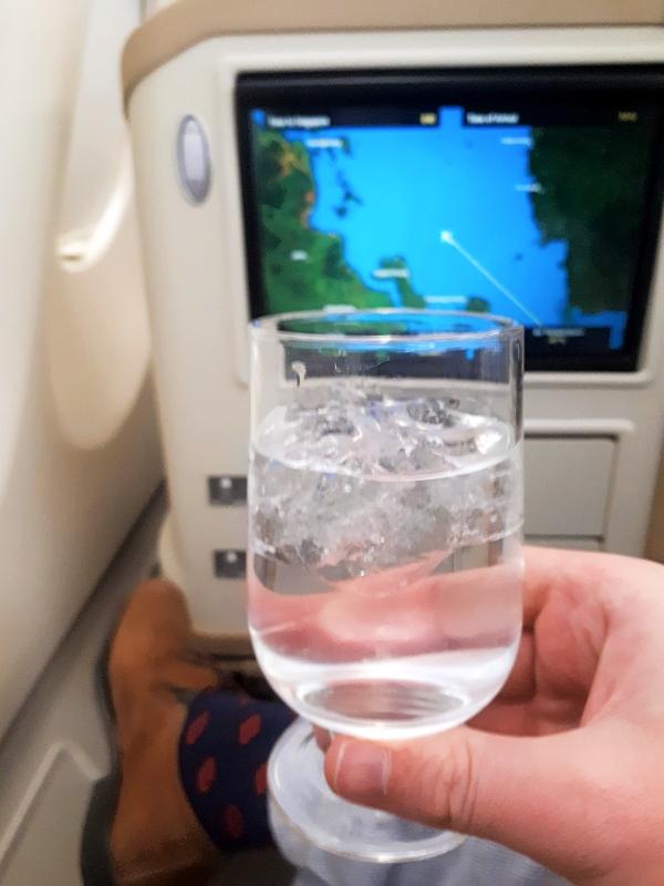gin tonic plane flight map